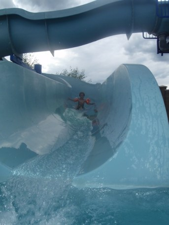 Tory cruses the slide Han Solo style.