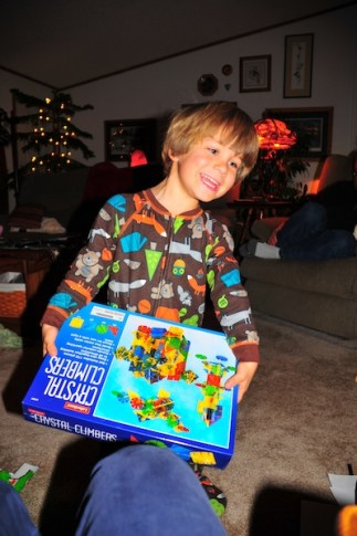 The great unwrapping. He guessed what this was before he opened it.
