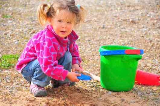 In the sandpit. Make that near the sandpit.