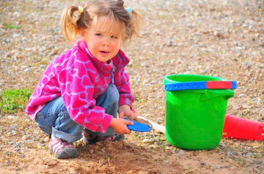 In the sandpit. Make that near the sandpit.