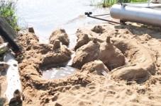 Massive sand castle on Battle Lake
