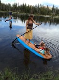 Paddling with the kids.
