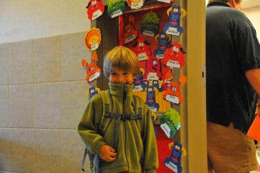 First day in kindergarten.