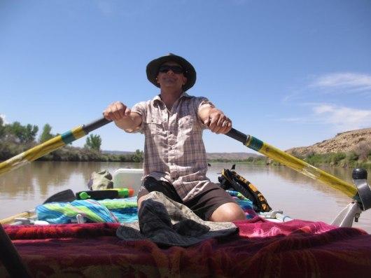 Bryan paddles and paddles.