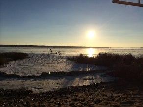 Sunrise over West Battle Lake