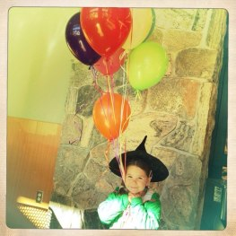 Tegan gets some balloons from Smiths
