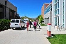 The walk in, sunny Utah spring day.