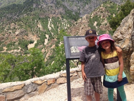 Tory and Tegan at the top of the cave hike