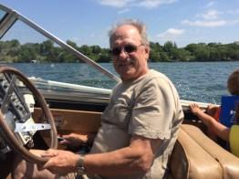 Grandpa Gary at the wheel