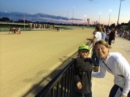 At the races!
