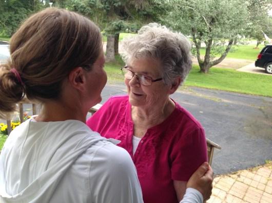 Visiting Great Grandma Ogie in Prentice, Wisconsin