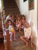 Tea time with the girls in Mondovi.