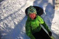 Kari gets in on some sledding action!
