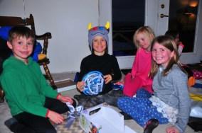Gift opening crew