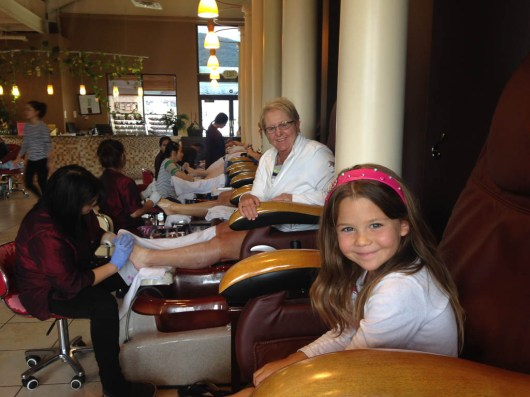 Getting toes done