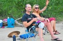 Mark and Maile celebrate not capsizing