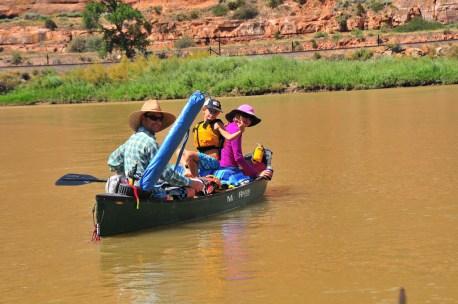 Tory abandons raft for canoe