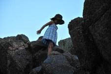 Tegan in slight silhouette