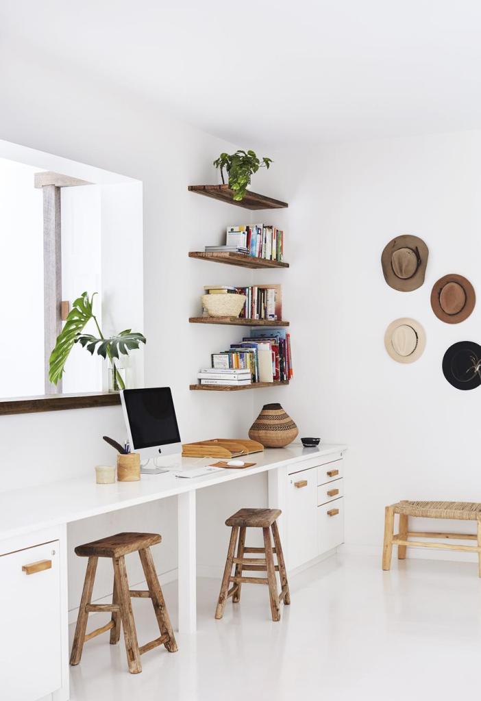 Boho Minimalist Office Inspiration Tory Stender