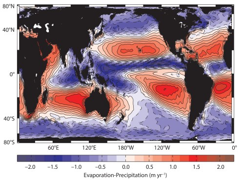 small resolution of the subtropical high pressure systems have e p red and export water to the rest of the climate system the intertropical convergence zone