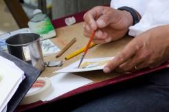Artist at work in Firenze