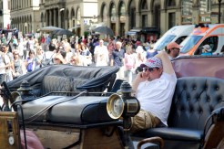 Firenze carriage driver taking a break