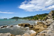 The coast looking towards Abel Tasman National Park