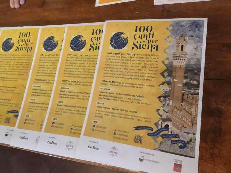 """SIENA – """"Cento Canti per Siena"""", una maratona dantesca per celebrare il Divin Poeta"""