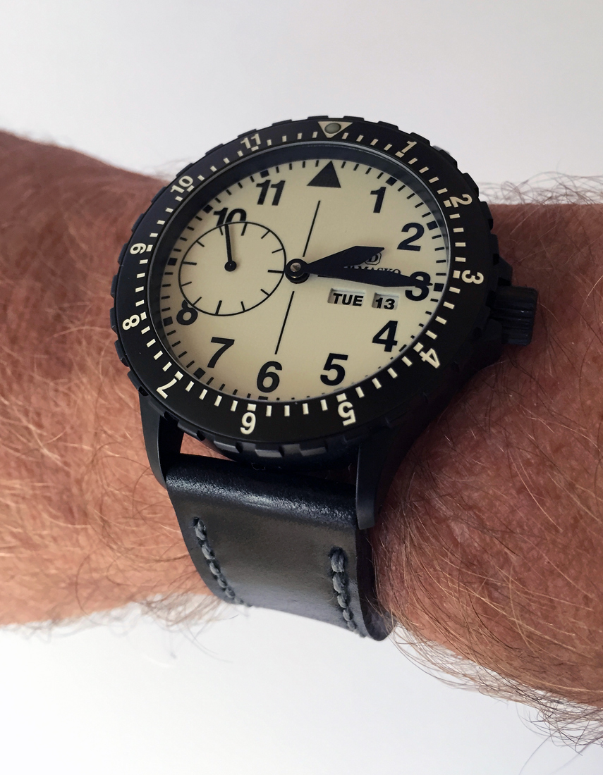 Damasko DK15 on Black shell cordovan leather with grey stitching. © Paul Mitchell