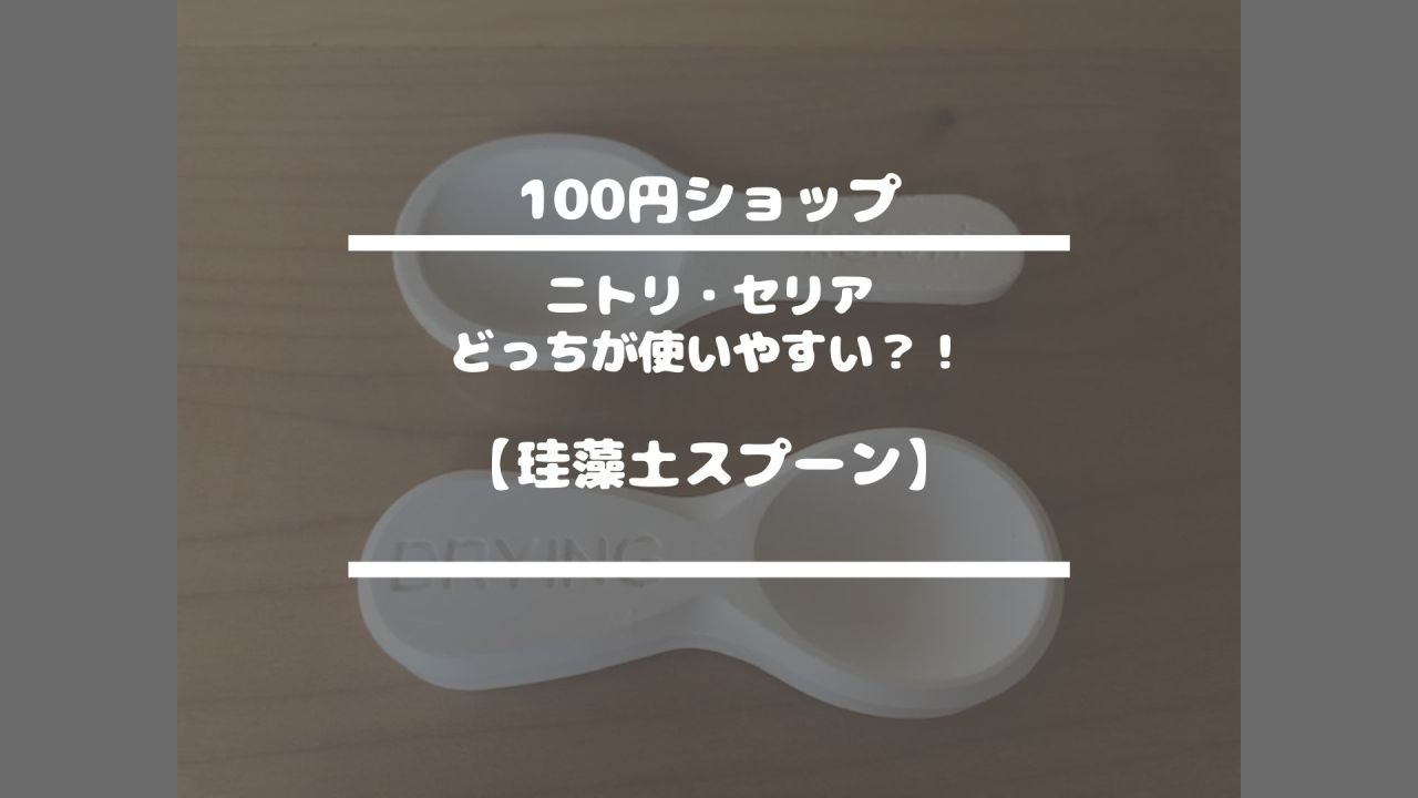 100円ショップ【ニトリ・セリアどっちが使いやすい?!珪藻土スプーン】