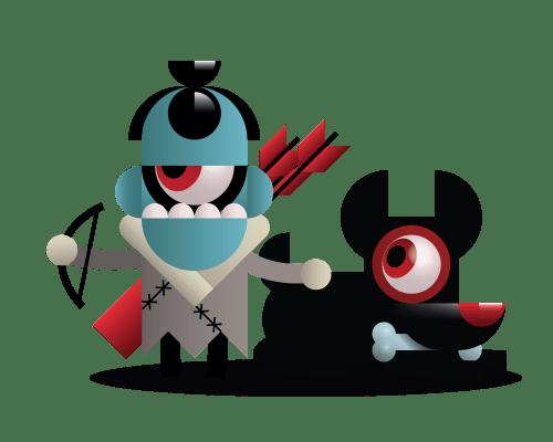 Toshl monster hunter with dog
