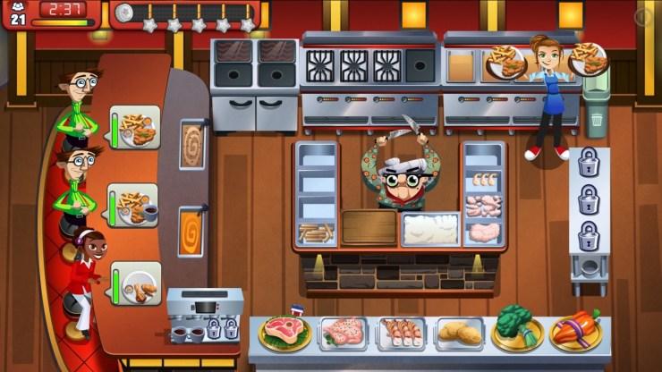 Gry mobilne na podróż - Cooking Dash