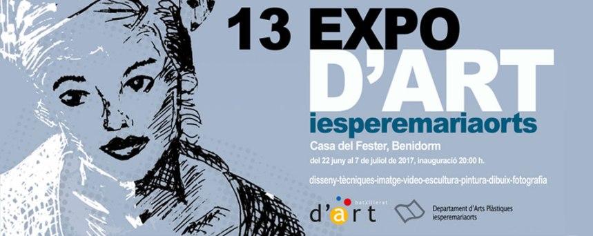 13 EXPO D´ART IES PERE MARIA ORTS I BOSCH 22 junio a 7 julio 2017 en Casal Fester Benidorm