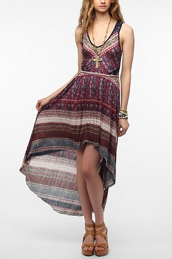 Ecote Lace Inset Knit Maxi Dress $79