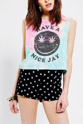 Truly Madly Deeply Have A Nice Jay Cropped Muscle Tee