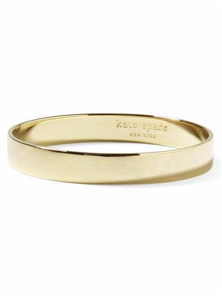 Kate Spade Solid Gold Bracelet - Gold
