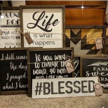 Farm Haus Design wood signs. Beautiful!