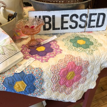 Gorgeous selection of handmade quilts.