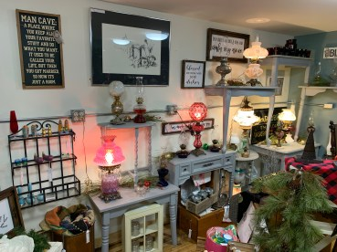We have a lovely selection of antique lamps.