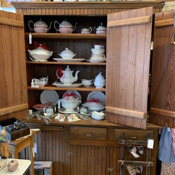 Love Ironstone? T and F has a great assortment of vintage pitchers, platters, etc.