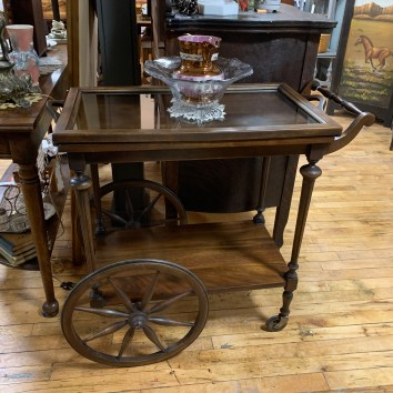 Vintage Serving Cart with Removable Tray