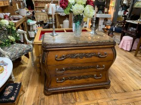 Bombe Chest with Marble Top