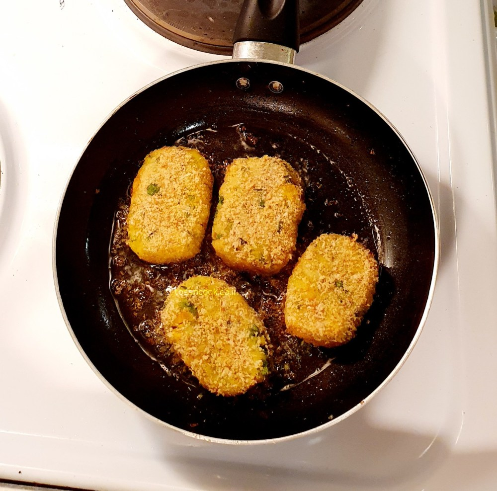 Shallow fry the cutlets