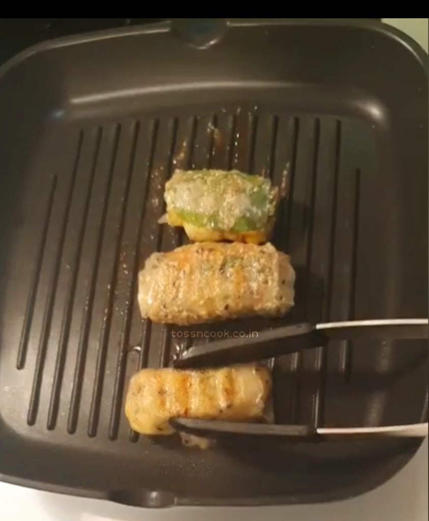 Grilling Cheesy Rice Wraps