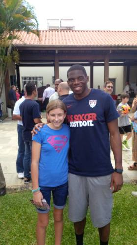 Gwen with Sean Johnson from Chicago Fire.
