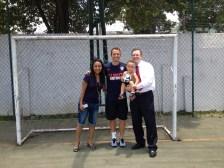 Family Maughan with Brad Davis.