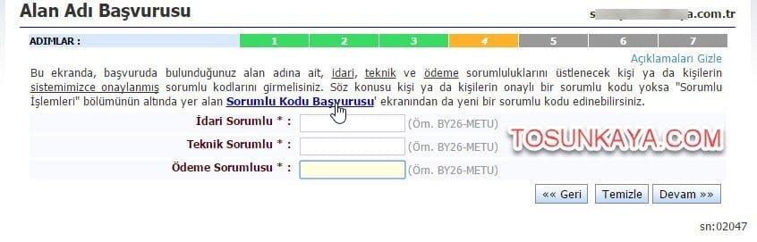 adsoyad.com.tr domain alma belgesiz nic.tr 5 sorumlu kodları