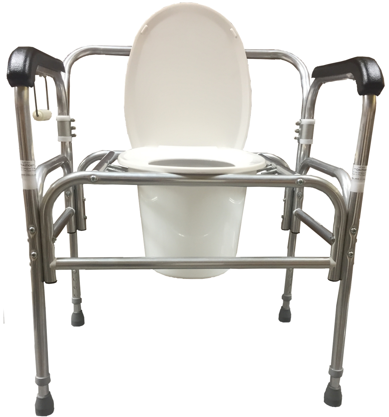 Bedside Commode Chair Model 724dau A Bariatric Droparm Bedside Commode With Adjustable Seat Height
