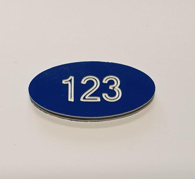 oval locker number