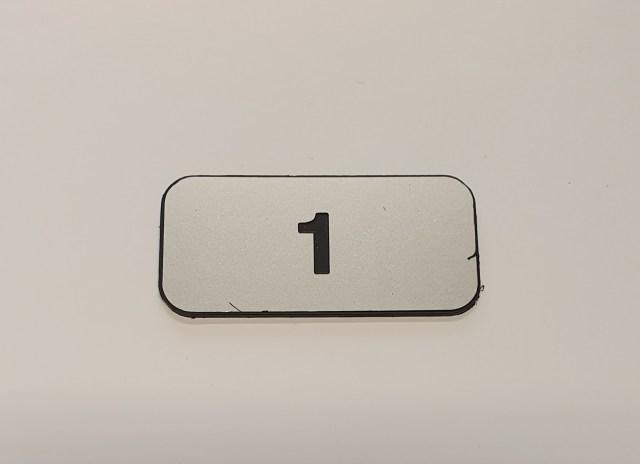locker number plate